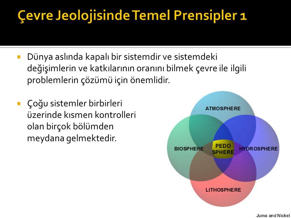 Çevre Jeolojisinde Temel Prensipler 1