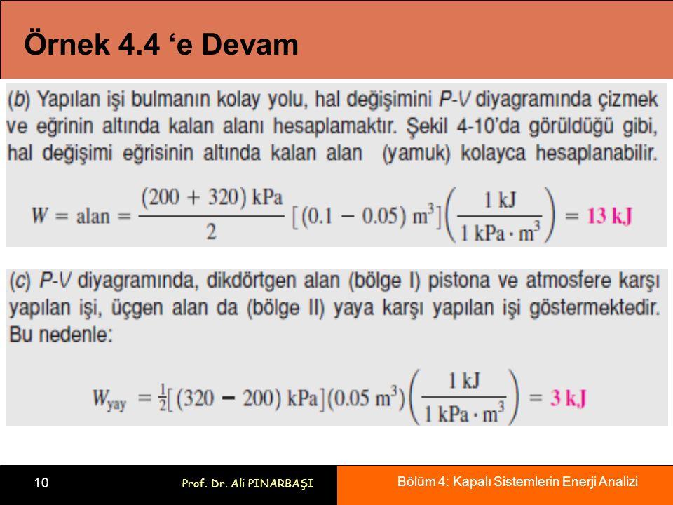 Örnek 4.4 'e Devam