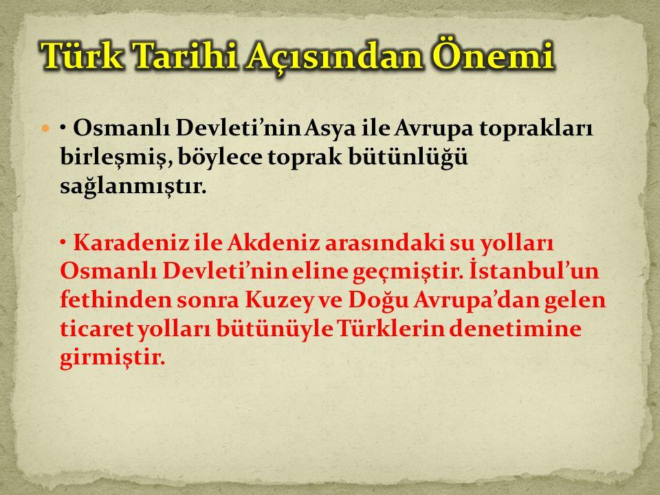 Türk Tarihi Açısından Önemi