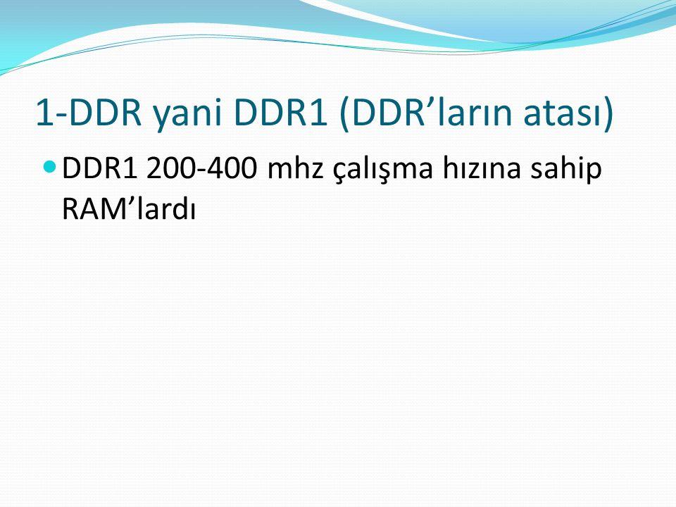 1-DDR yani DDR1 (DDR'ların atası)