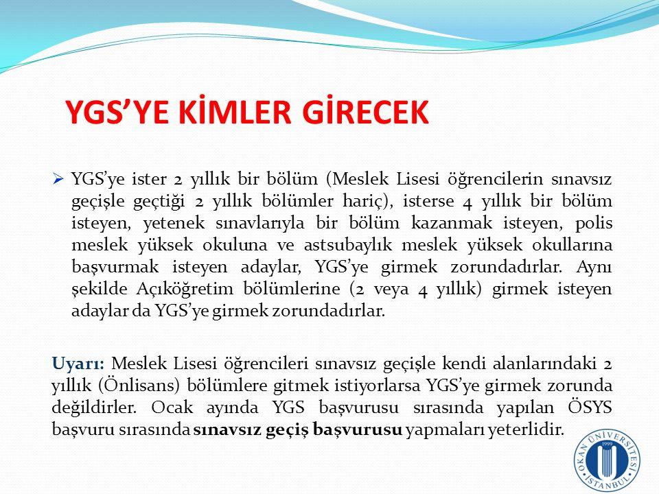 YGS'YE KİMLER GİRECEK