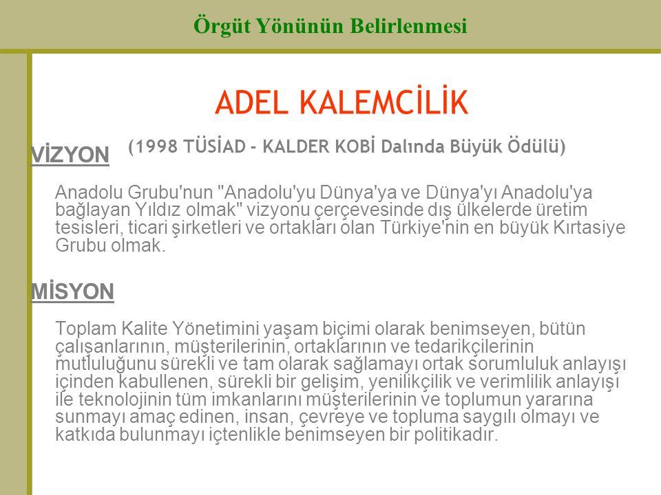 ADEL KALEMCİLİK (1998 TÜSİAD - KALDER KOBİ Dalında Büyük Ödülü)