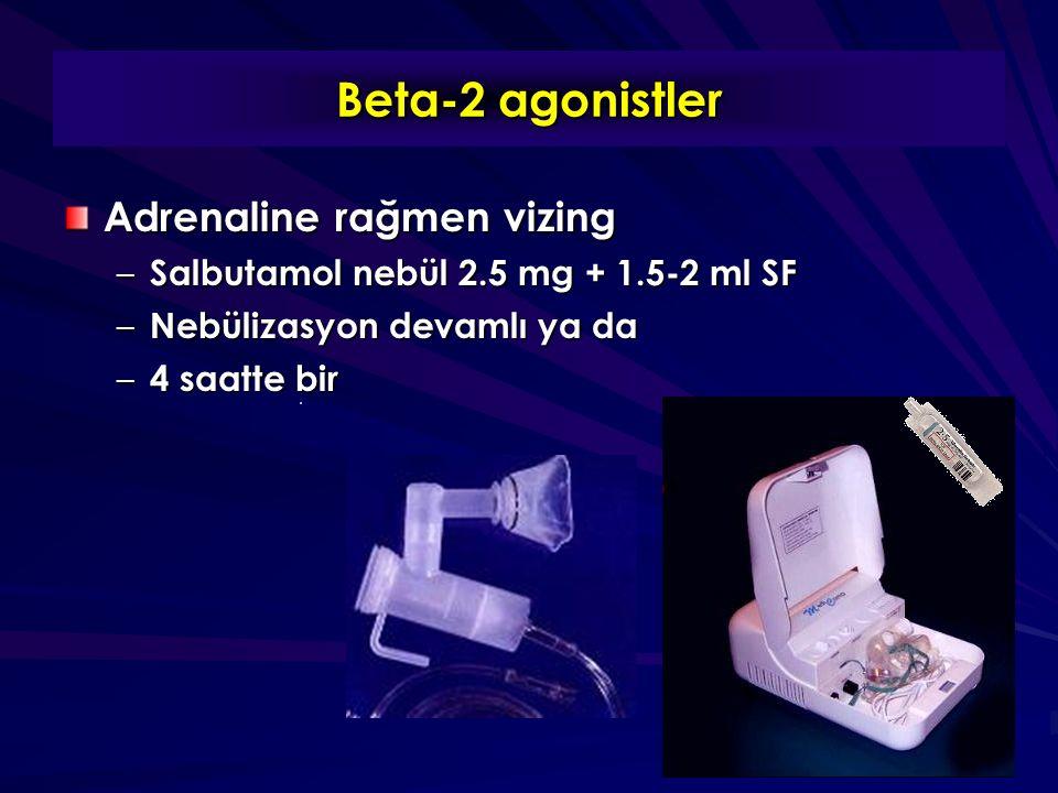 Beta-2 agonistler Adrenaline rağmen vizing