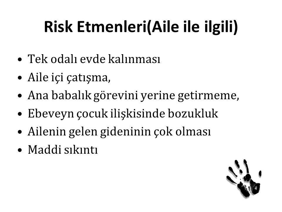 Risk Etmenleri(Aile ile ilgili)