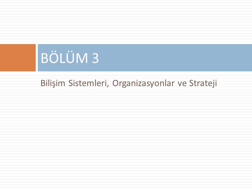 BÖLÜM 3 Bilişim Sistemleri, Organizasyonlar ve Strateji