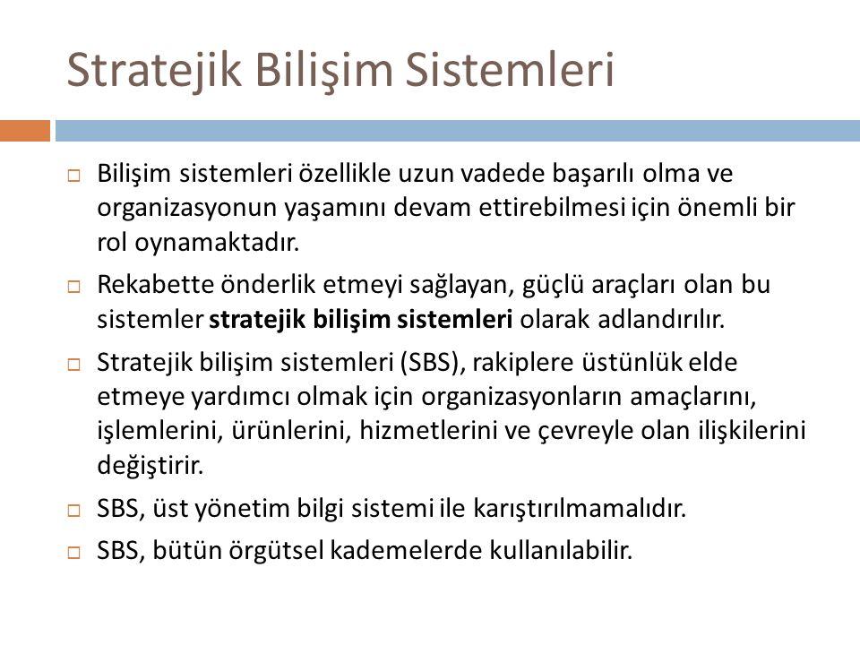 Stratejik Bilişim Sistemleri