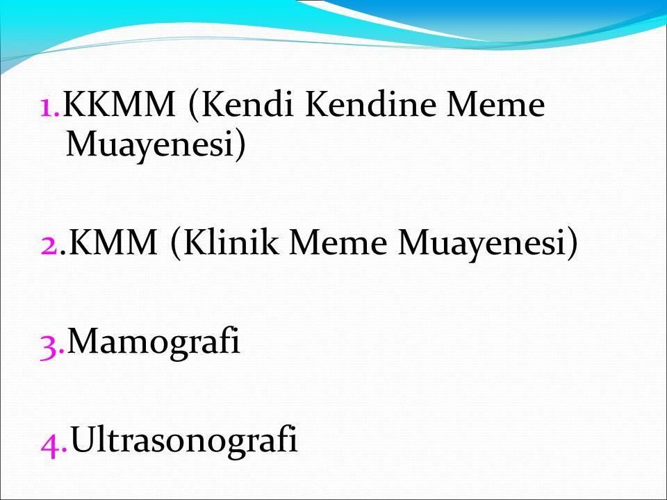 1.KKMM (Kendi Kendine Meme Muayenesi)