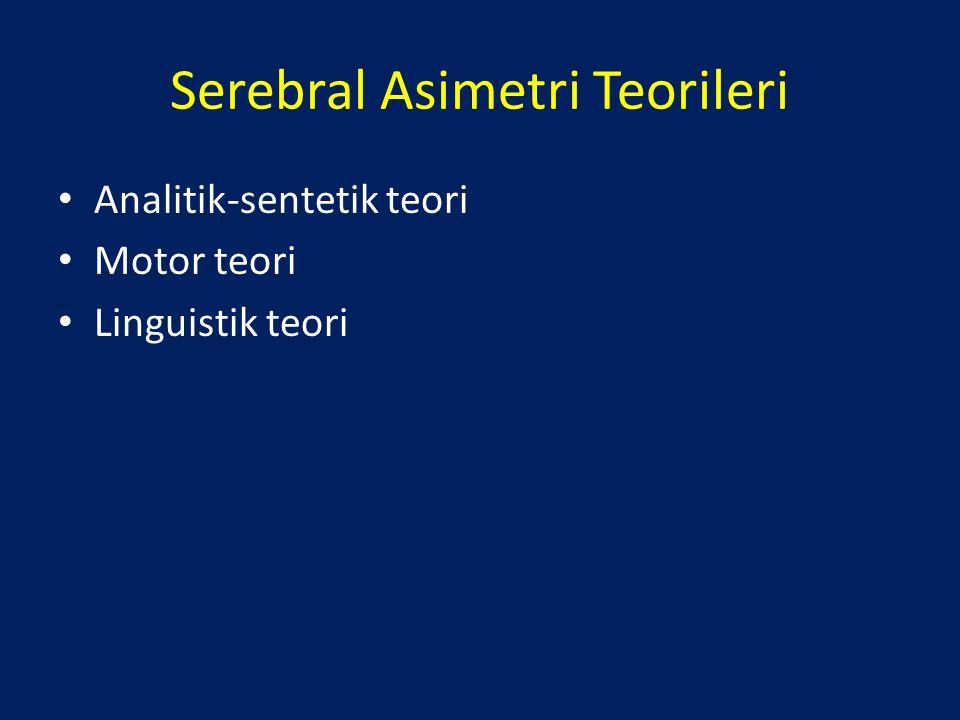 Serebral Asimetri Teorileri