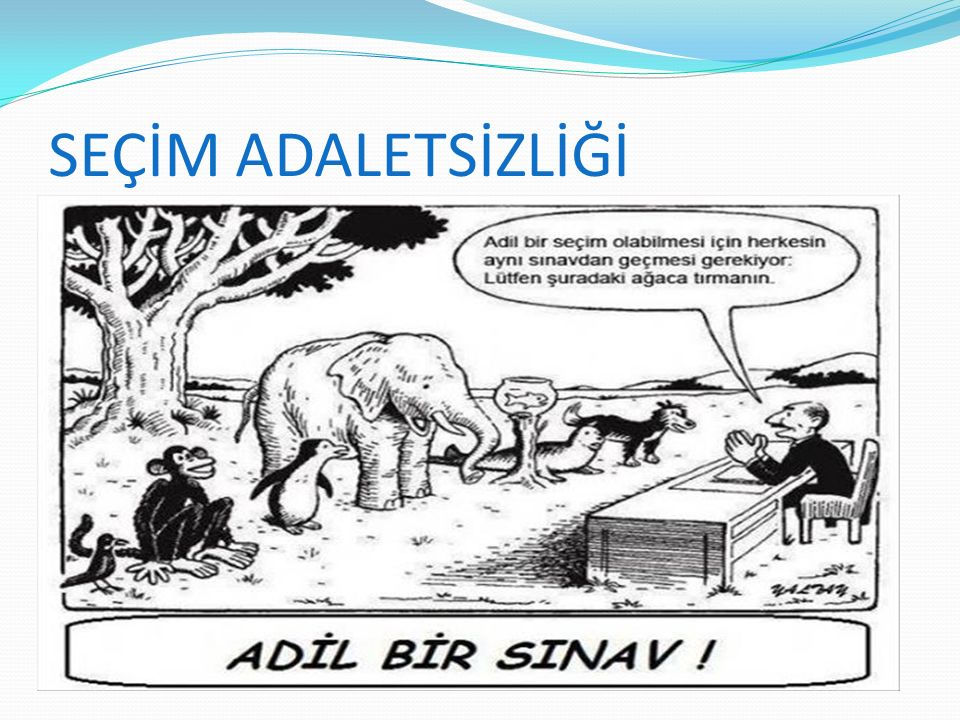 SEÇİM ADALETSİZLİĞİ