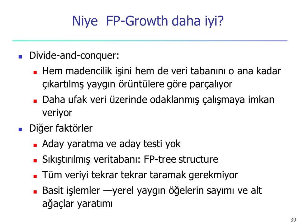 Niye FP-Growth daha iyi