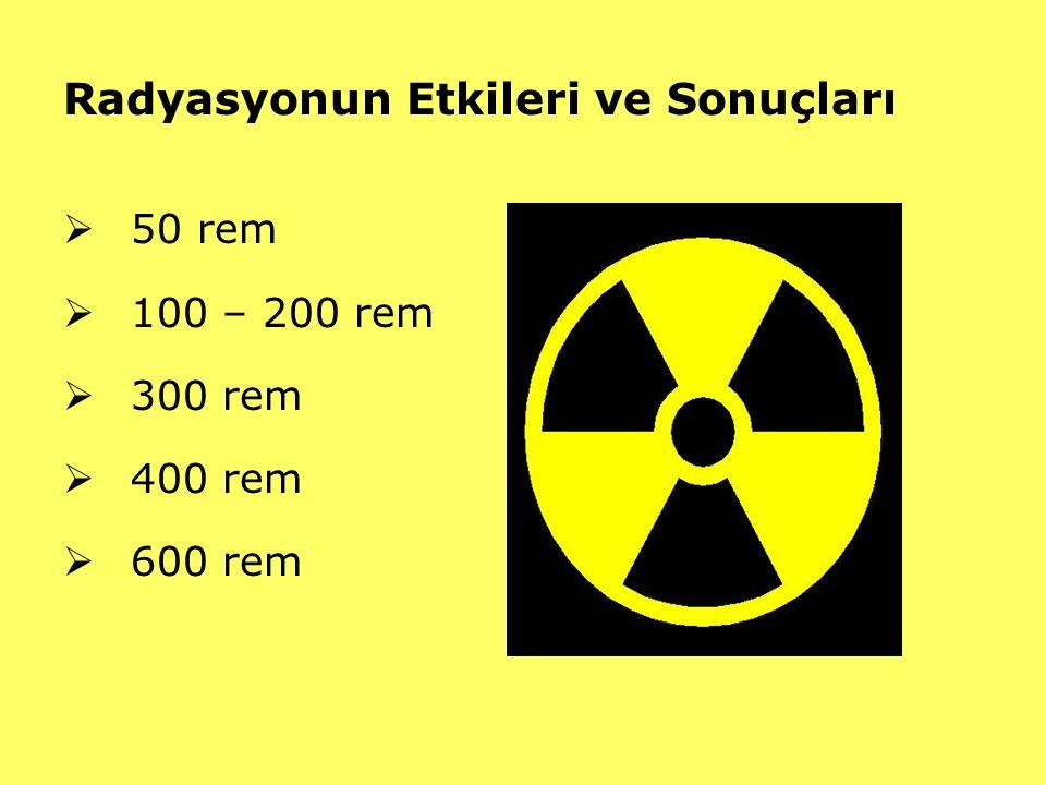 Radyasyonun Etkileri ve Sonuçları