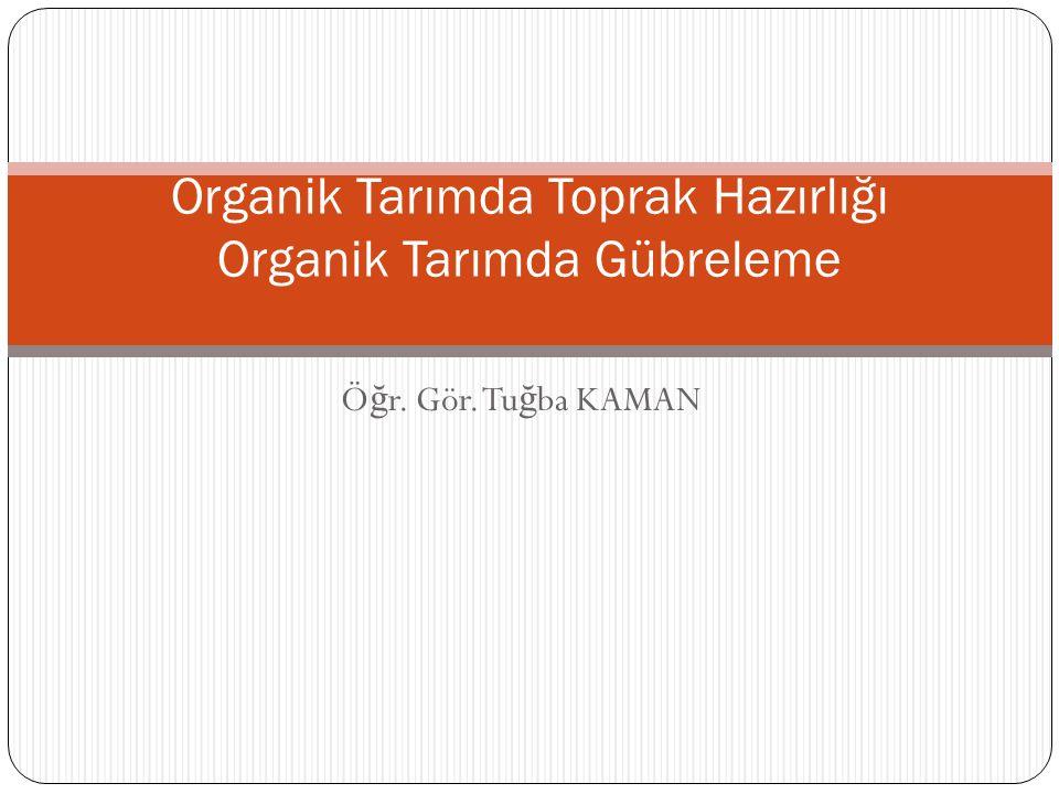 Organik Tarımda Toprak Hazırlığı Organik Tarımda Gübreleme