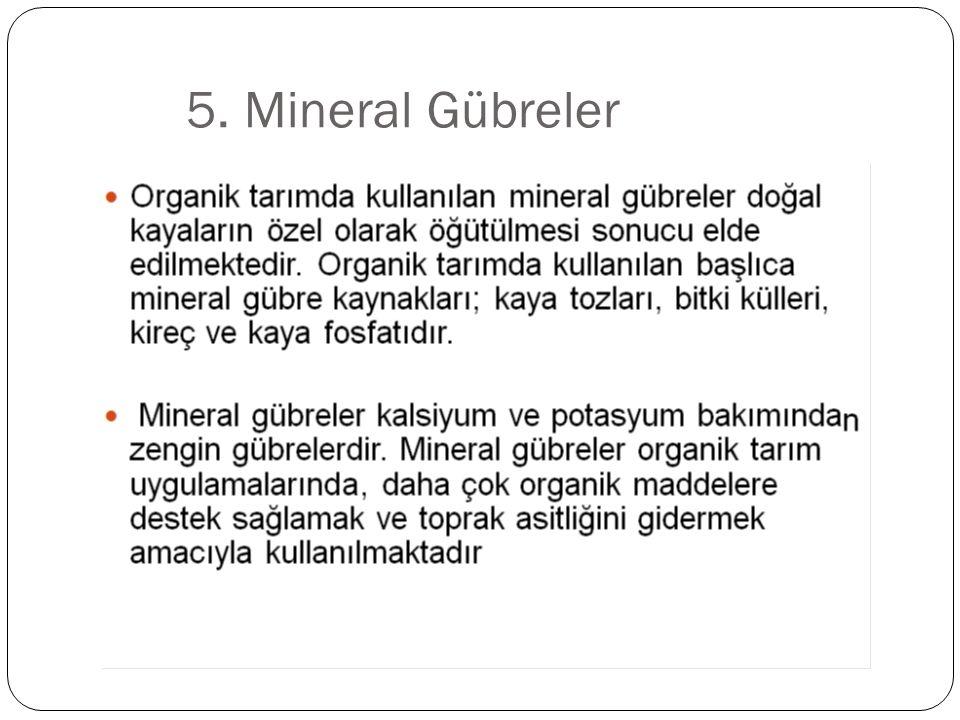 5. Mineral Gübreler
