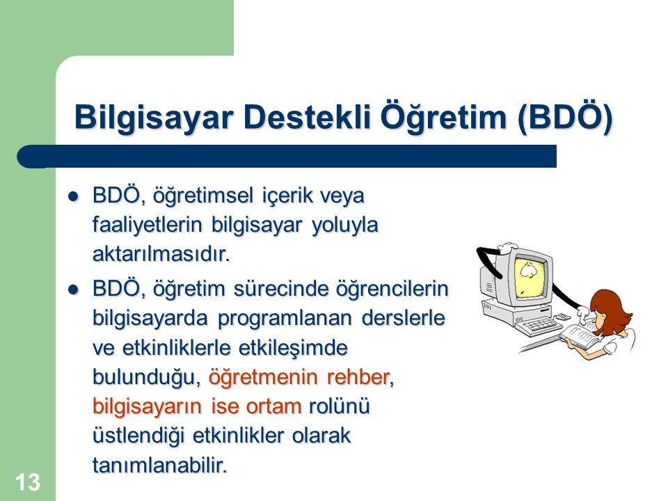 Bilgisayar Destekli Öğretim (BDÖ)