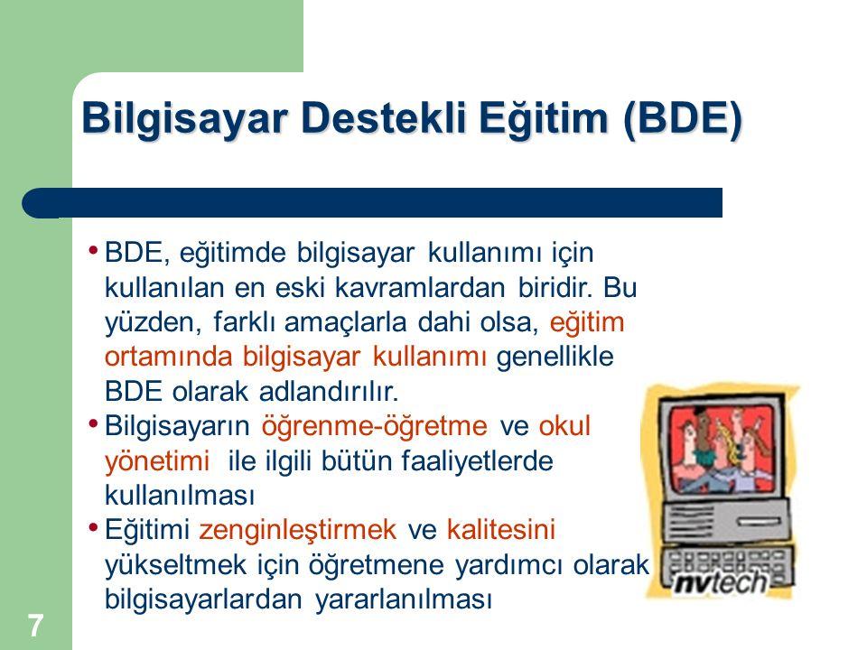 Bilgisayar Destekli Eğitim (BDE)