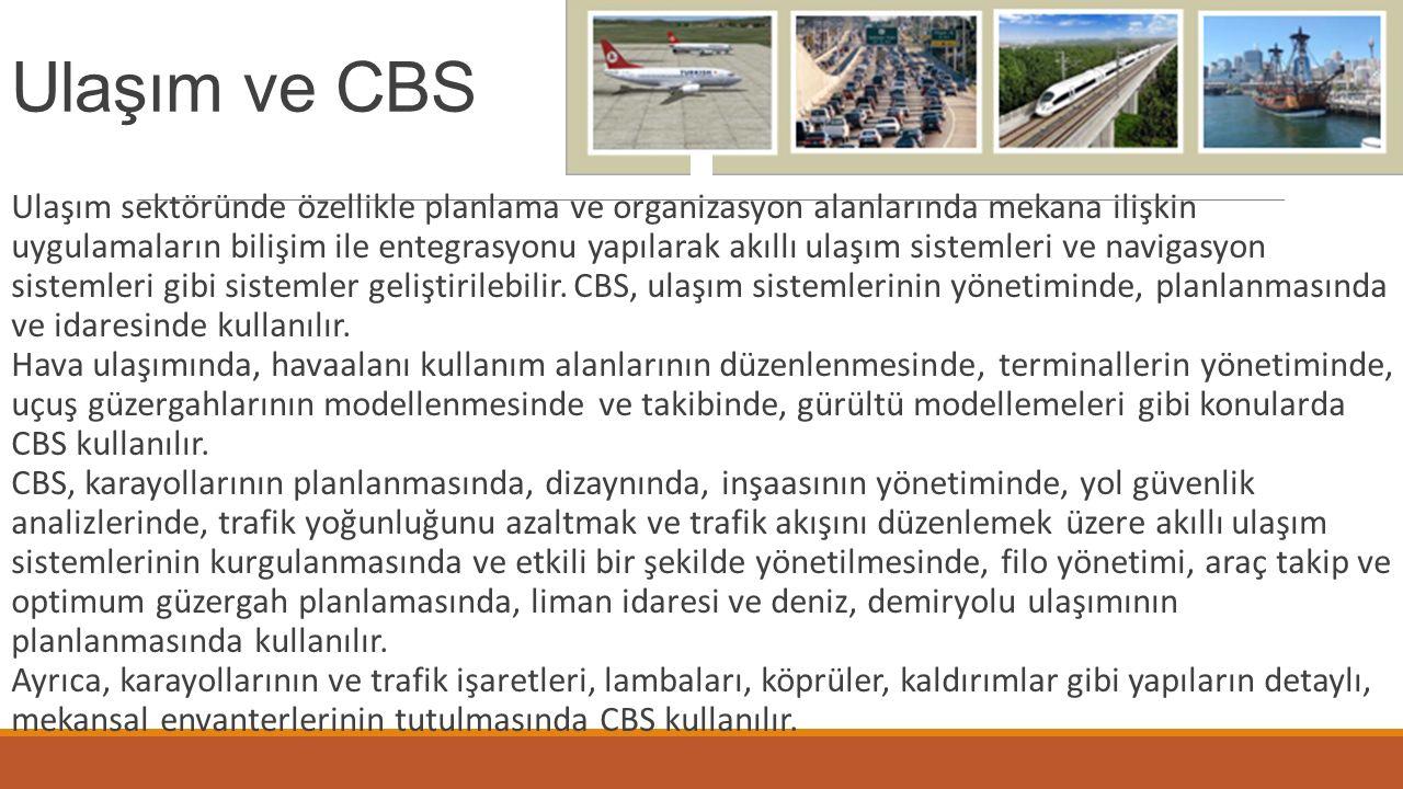 Ulaşım ve CBS