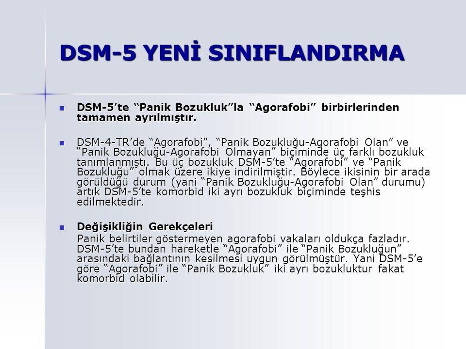 DSM-5 YENİ SINIFLANDIRMA