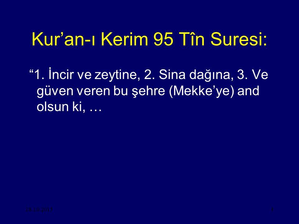 Kur'an-ı Kerim 95 Tîn Suresi: