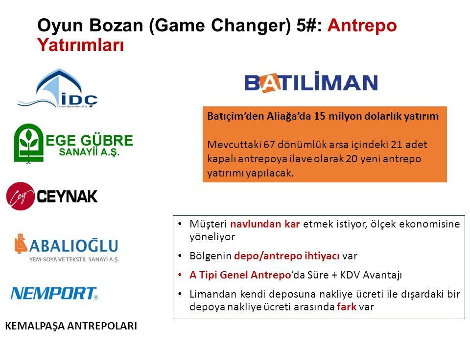 Oyun Bozan (Game Changer) 5#: Antrepo Yatırımları