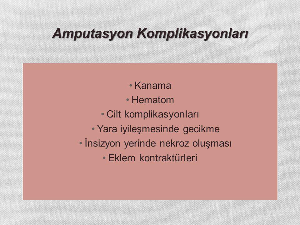 Amputasyon Komplikasyonları