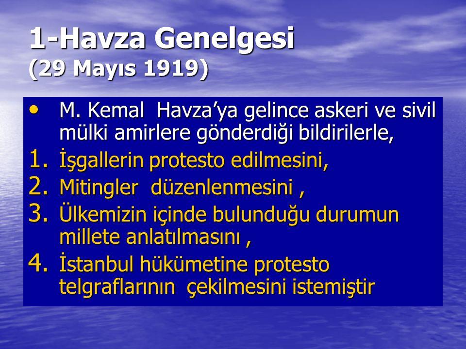 1-Havza Genelgesi (29 Mayıs 1919)