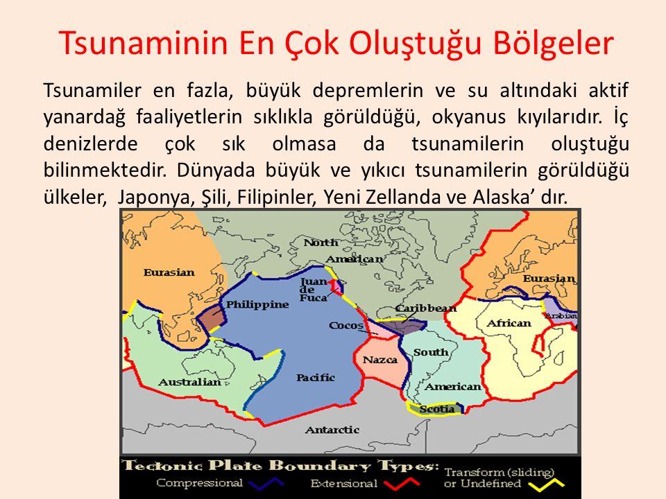 Tsunaminin En Çok Oluştuğu Bölgeler