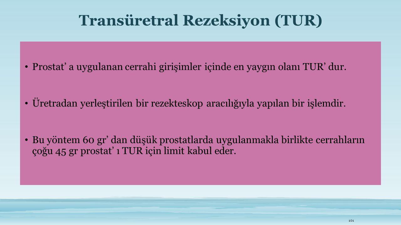 Transüretral Rezeksiyon (TUR)