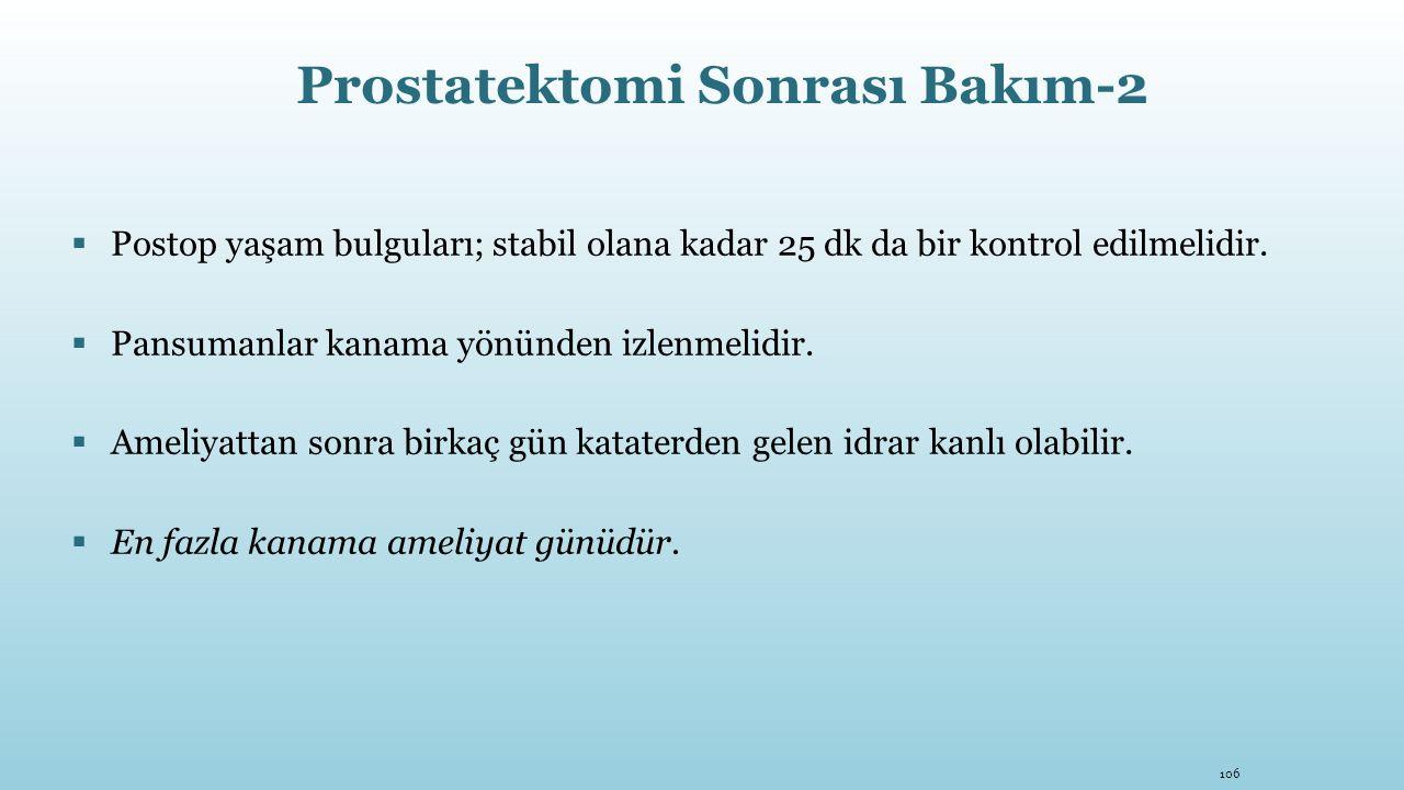 Prostatektomi Sonrası Bakım-2