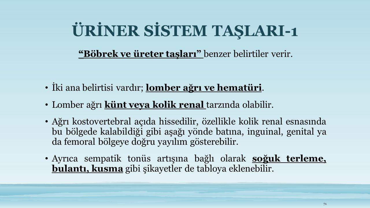 ÜRİNER SİSTEM TAŞLARI-1
