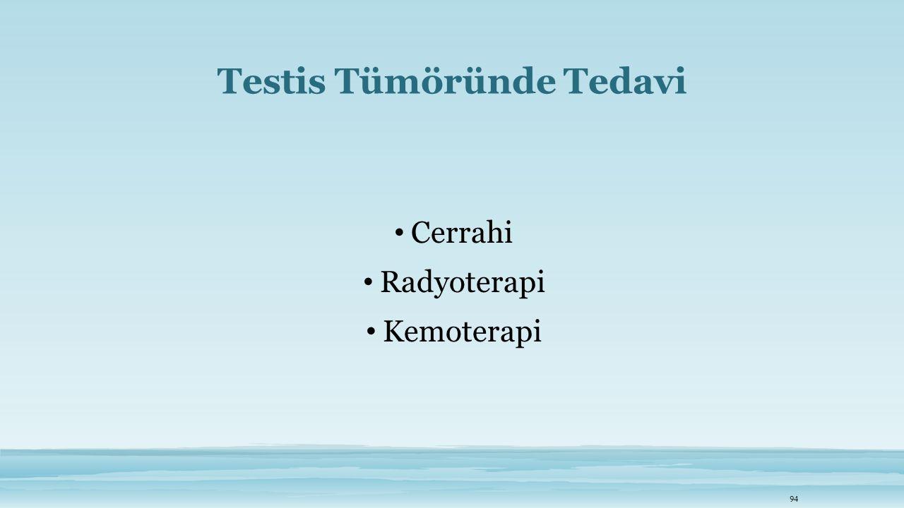 Testis Tümöründe Tedavi