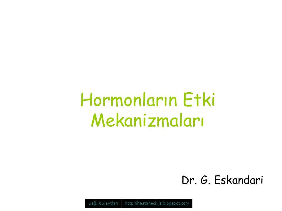Hormonların Etki Mekanizmaları