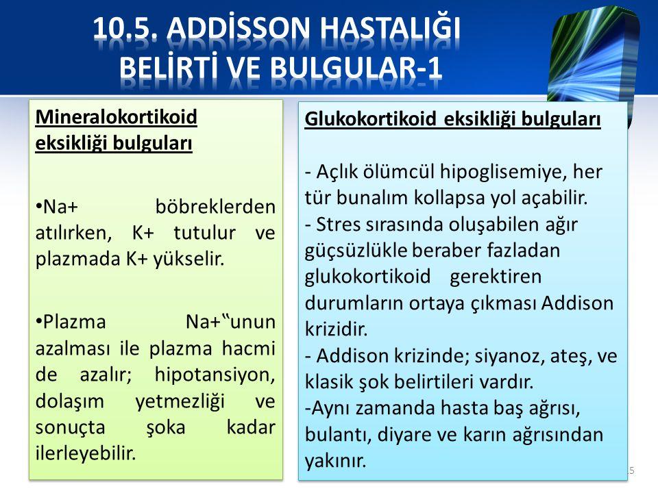 10.5. ADDİSSON HASTALIĞI BELİRTİ VE BULGULAR-1