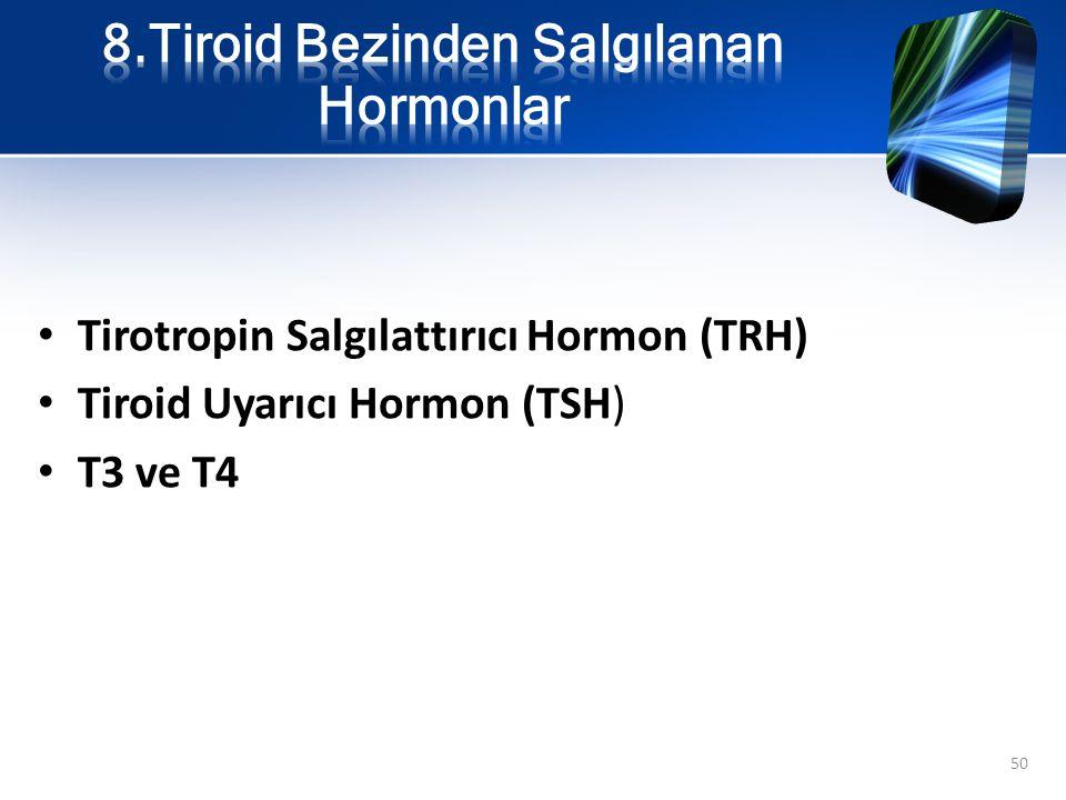 8.Tiroid Bezinden Salgılanan Hormonlar