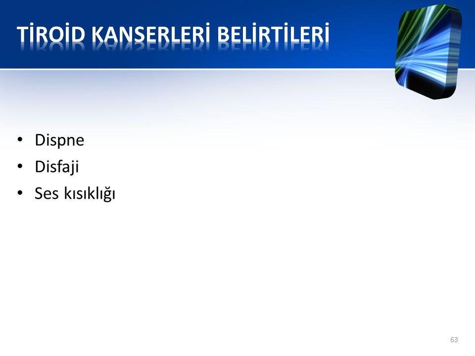 TİROİD KANSERLERİ BELİRTİLERİ