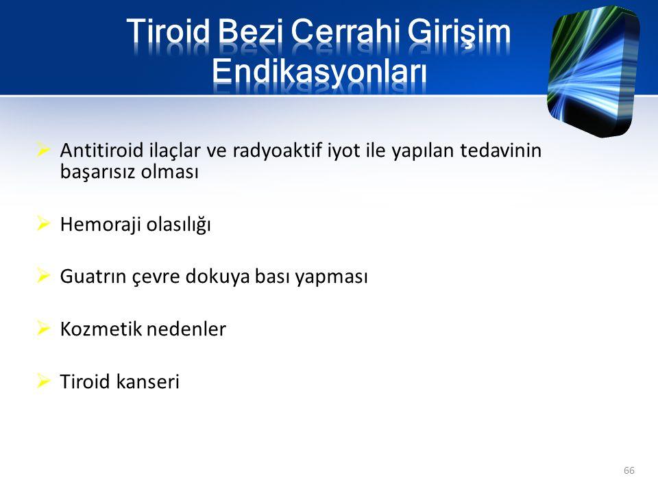 Tiroid Bezi Cerrahi Girişim Endikasyonları