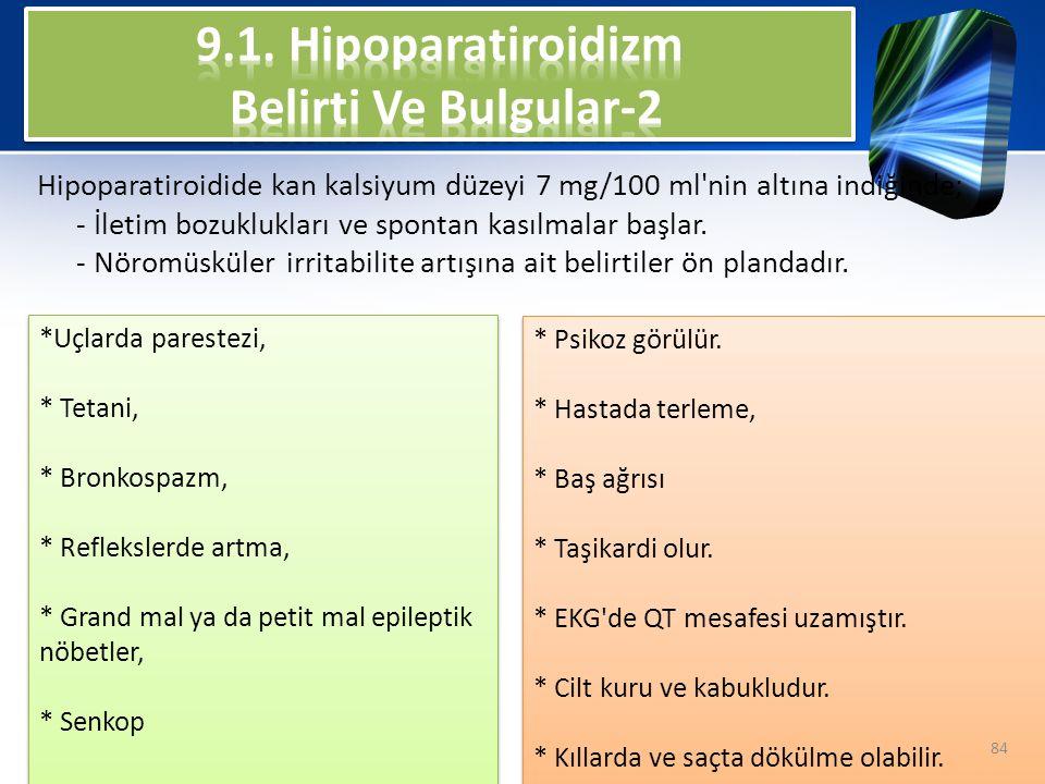 9.1. Hipoparatiroidizm Belirti Ve Bulgular-2