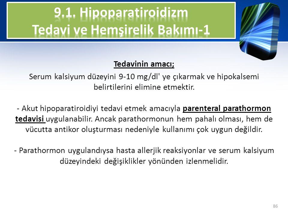 9.1. Hipoparatiroidizm Tedavi ve Hemşirelik Bakımı-1