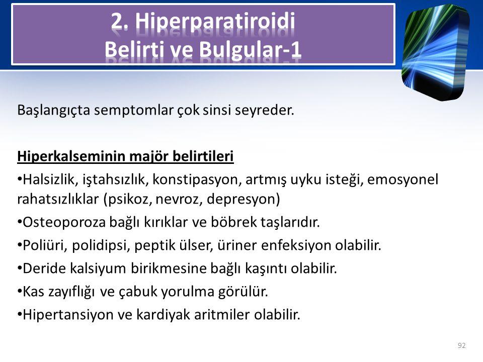 2. Hiperparatiroidi Belirti ve Bulgular-1