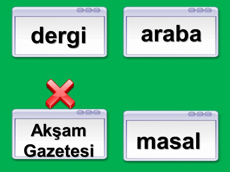 araba dergi Akşam Gazetesi masal