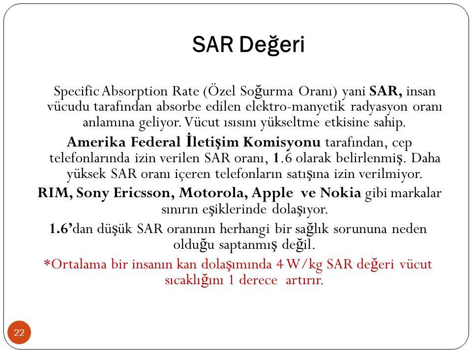 SAR Değeri