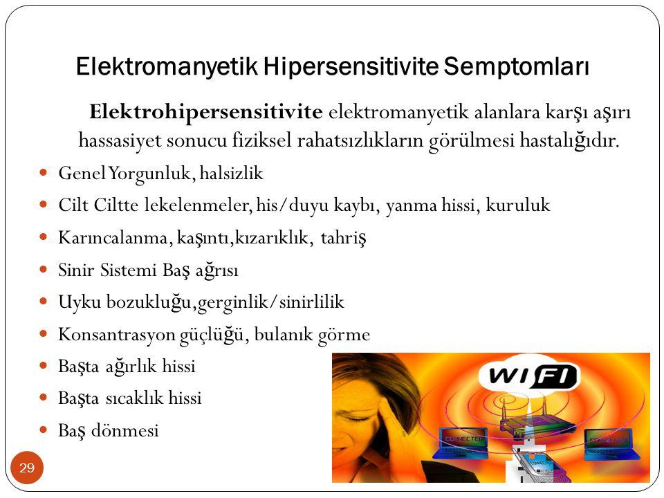Elektromanyetik Hipersensitivite Semptomları