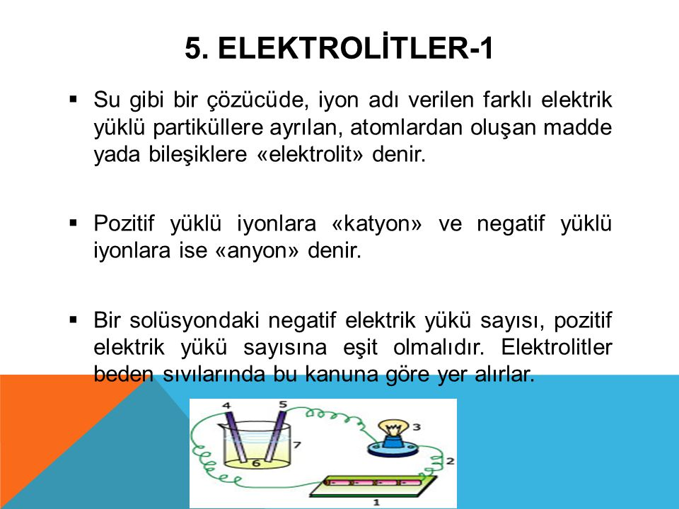 5. ELEKTROLİTLER-1