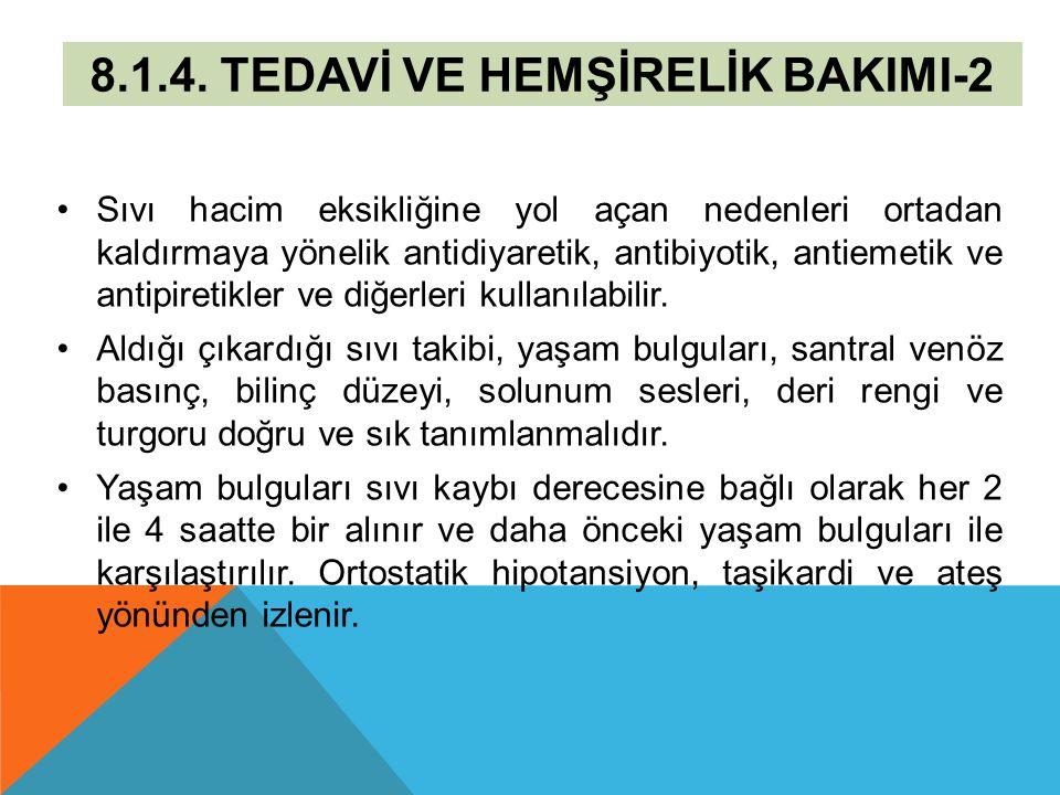 8.1.4. TEDAVİ VE HEMŞİRELİK BAKIMI-2