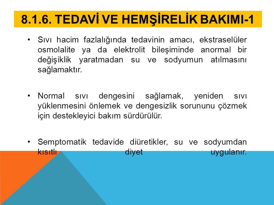 8.1.6. TEDAVİ VE HEMŞİRELİK BAKIMI-1