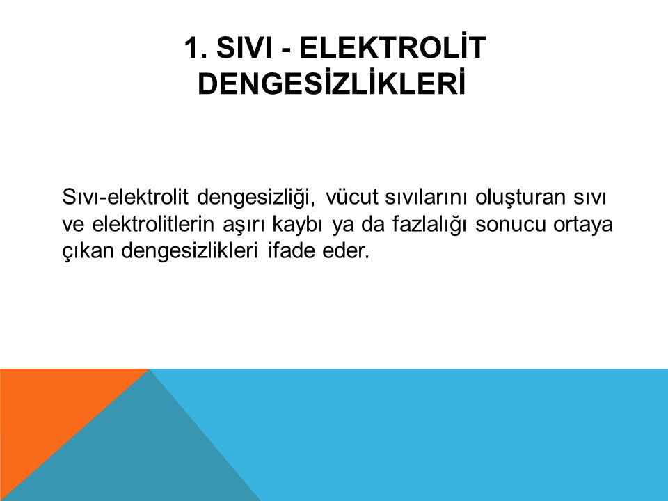 1. SIVI - ELEKTROLİT DENGESİZLİKLERİ