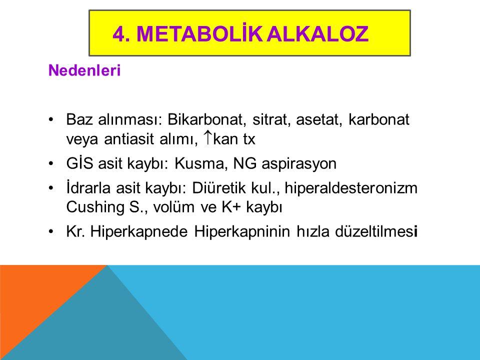 4. Metabolİk Alkaloz Nedenleri