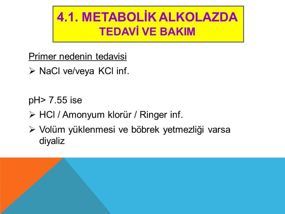 4.1. Metabolİk ALKOLAZDA TEDAVİ VE BAKIM