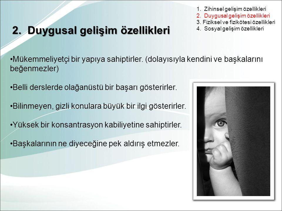 2. Duygusal gelişim özellikleri