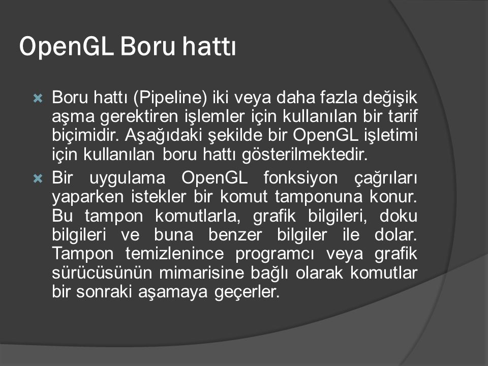 OpenGL Boru hattı