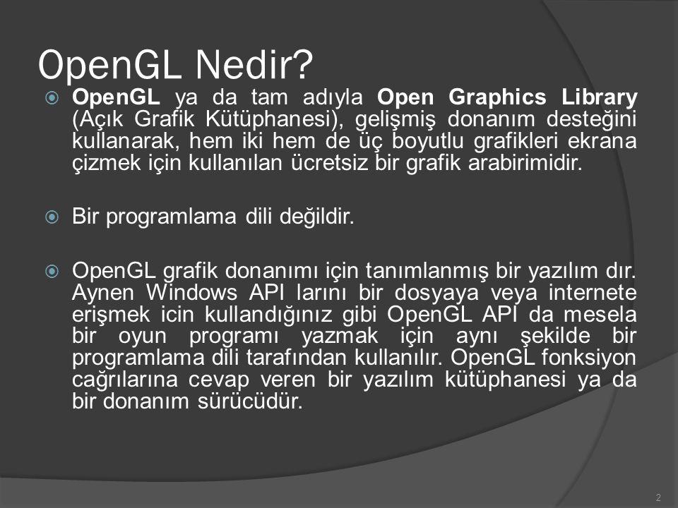 OpenGL Nedir